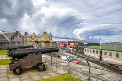 Two Cannon at Fort Charlotte, Lerwick, Shetland, Scotland Stock Photo