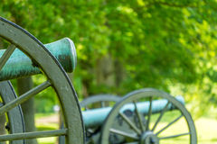 Two Cannons on a Battlefield Stock Photos