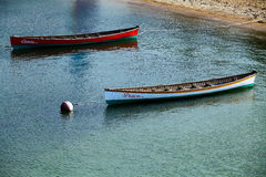 Two Canoes in Martha's Vineyard. Stock Images