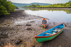 Two canoes Royalty Free Stock Photography