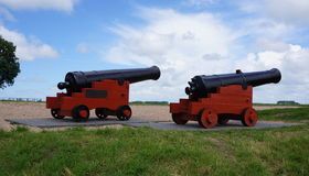 Two canons Stock Photography