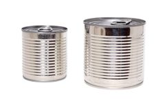 Two cans Stock Images