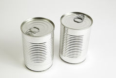 Two cans closed Stock Photo