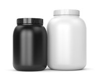 Two cans of sport supplements Stock Image