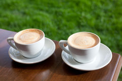 Two cappuccino Stock Photography