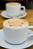 Two Cappuccino Royalty Free Stock Image