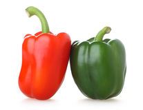 Two capsicums Royalty Free Stock Image