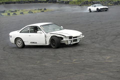 Two car drifting Royalty Free Stock Images