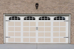 Two car garage door Stock Photo