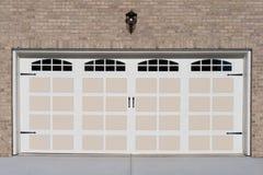 Two car garage door stock photo