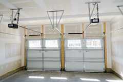 Two car garage interior Royalty Free Stock Photos