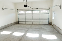 Two car garage interior. With electric door opener Stock Photography