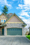 Two-car garage of a luxury house Royalty Free Stock Image