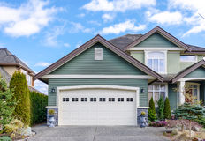 Two-car garage of a luxury house Royalty Free Stock Images