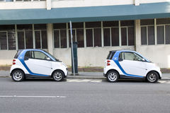 Two Car2go small electronic rental cars Stock Image