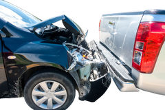 Two car involving crash accident Stock Photography
