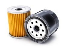 Two car oil filter. On white background. 3d illustration Stock Photo