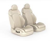 Two car seats. Isolated on white background Stock Image