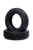 Two Car tire isolated Stock Photo