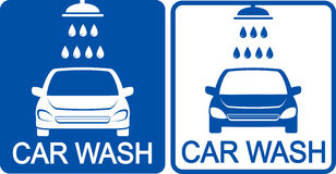 Two car wash icons Stock Photos
