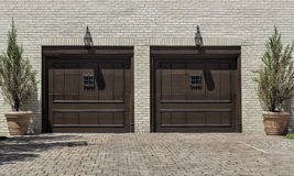 Two car wooden garage royalty free stock photography