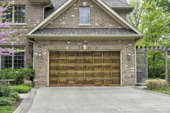 Two car wooden garage stock photography