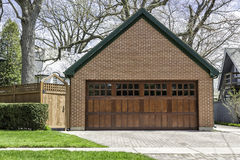 Two car wooden garage royalty free stock images