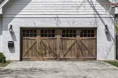 Two car wooden garage royalty free stock image