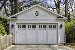 Two car wooden garage Stock Photos