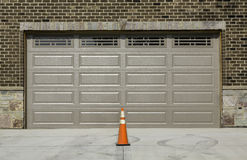 Two car wooden garage Stock Photo
