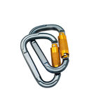Two carabiners Royalty Free Stock Images