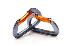 Two carabiners Stock Photos