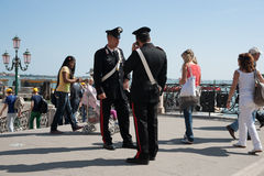 Two Carabinieri, from one of Italy's two police forces Stock Photo