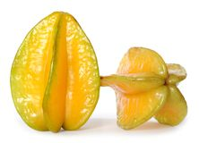 Two  carambola Stock Images