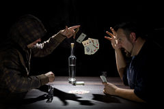Two Card Players Royalty Free Stock Image
