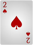 Two card spades poker Stock Images