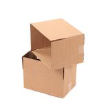 Two cardboard boxes. Stock Images