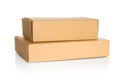 Two cardboard boxes Royalty Free Stock Photo