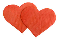 Two cardboard heart Stock Photo