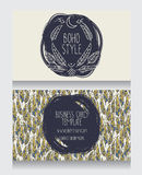 Two cards for boho style Royalty Free Stock Images