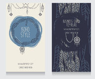 Two cards for boho style Stock Image