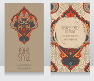 Two cards for boho style Stock Photos