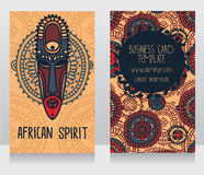 Two cards in ethnic african style Stock Photo