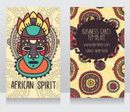 Two cards in ethnic african style Stock Photos