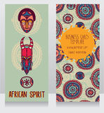 Two cards in ethnic african style Stock Images