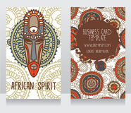 Two cards in ethnic african style Royalty Free Stock Image