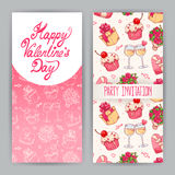 Two cards for Valentine's Day Royalty Free Stock Images