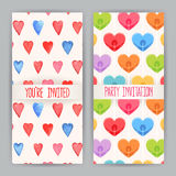 Two cards for Valentine's Day with hearts. Two nice background for greeting cards for Valentine's Day with hearts Stock Photography