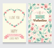 Two cards for valentine's day party Stock Images