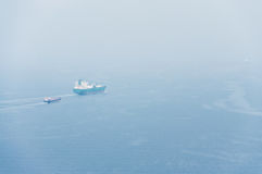 Two cargo ship Royalty Free Stock Photo